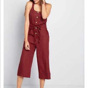 Brightest Idea Cropped Jumpsuit- Brand New
